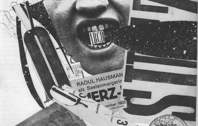 Zu den Pionieren der phonetischen Poesie gehört Raoul Hausmann. Er gilt außerdem als einer der Begründer der Foto-Montage.